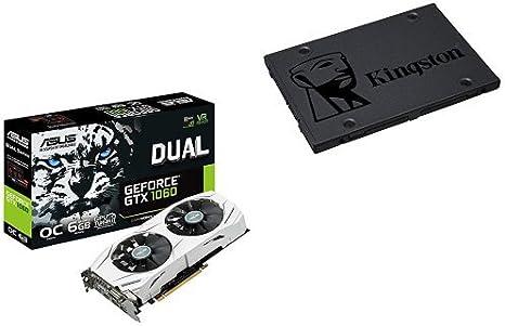 ASUS DUAL-GTX1060-O6G - Tarjeta gráfica (Dual, NVIDIA GeForce GTX ...