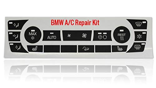 Worn BMW AC Button Repair Kit for Most 328i 335i 325i 335xi BMW 3 Series Models with Like Climate Controls - Made in America and Made to Last!
