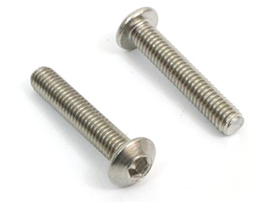 M3 x 12mm Stainless Steel, (100pc) Button Socket Head Cap Screw, Choose Size/Type, by Bolt Dropper