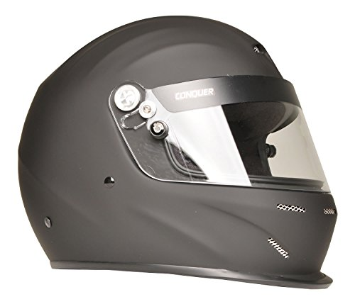 Exhaust Racing Drag (Conquer Snell SA2015 Aerodynamic Vented Full Face Auto Racing Helmet)
