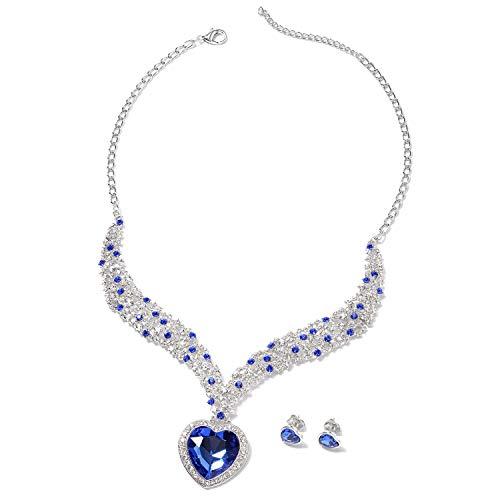 Duchess Of Windsor Costumes Jewelry - Silvertone Cubic Zirconia CZ Heart Stud