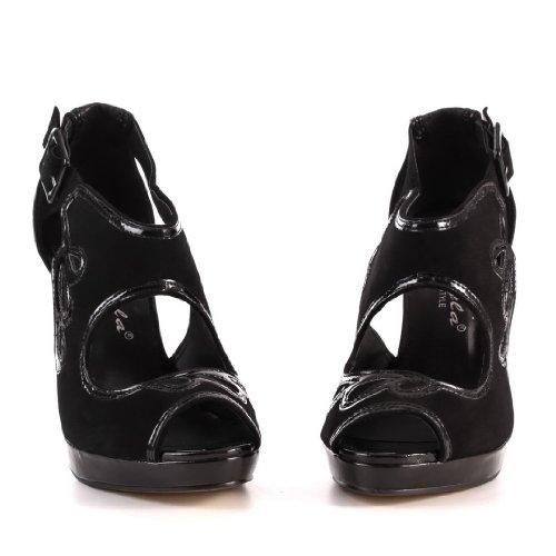 De Saltos K607 Alta Bombas Óptica Camurça Preto 36 Em Sapatos Qualidade Altos Caros Gr Sintéticos gwfEqA