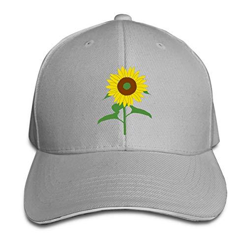 Adjustable Sandwich Hats Baseball Cap Tulip Clipart Gray