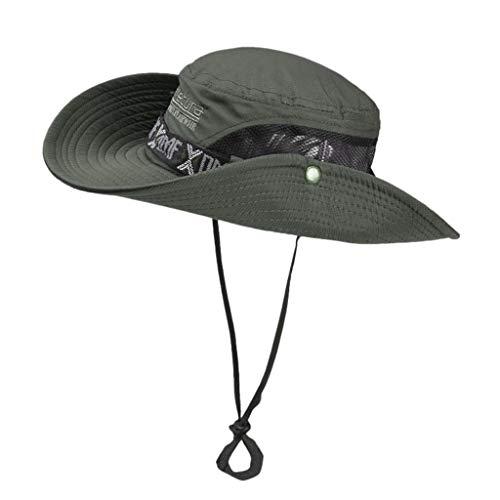 hositor Sun Hat, Fashion Summer Outdoor Sun Protection Cap Wide Brim Summer Hat for Fishing ArmyGreen