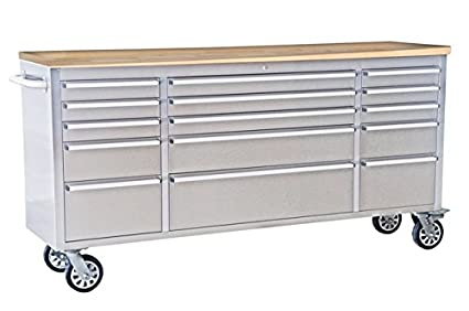This workbench is really a hybrid workbench/mobile tool cabinet. It  provides up to 14,500 cubic inches of space and up to 1200 lbs. of ...