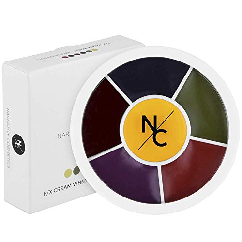 Narrative Cosmetics Bruise Wheel for Special Effects, Theatrical Makeup and Halloween - 6 Color Wheel