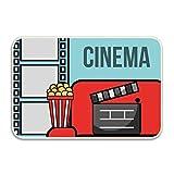koasncne Film Movie Cinema Non-Slip Doormat Floor Door Mat Indoor Outdoor Bathroom 16INx24IN