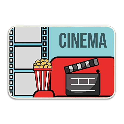 koasncne Film Movie Cinema Non-Slip Doormat Floor Door Mat Indoor Outdoor Bathroom 16INx24IN by koasncne