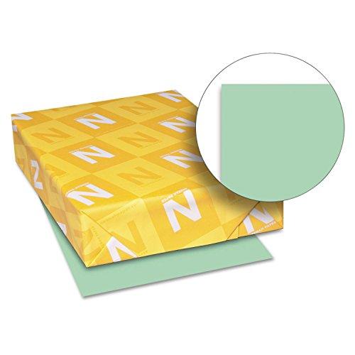 Neenah Paper 82351 Exact Vellum Bristol Cover Stock, 67lb, 8 1/2 x 11, Green, 250 Sheets
