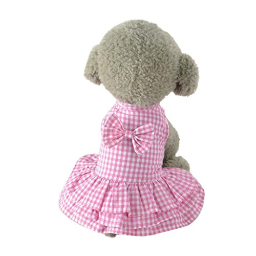 2017 Hot Pet Dress! AMA(TM) Pet Puppy Small Dog Vest Cute Sweet Bowknot Short Skirt Dress Doggy Clothes Apparel Costume (M, (Doggy Clothes)