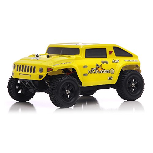 Iron Track Electric Hummer 1/18th 4WD Truck Ready to Run RC Remote Control Radio Car