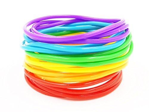 New 20 Piece Rainbow Jelly Bracelet -