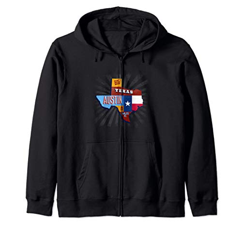 (Texas Funny Music Festival Don't Mess With Austin Zip Hoodie)