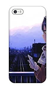 Protective Tpu Case With Fashion Design For Ipad Air (original Anime Phone Girl Tracks)