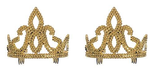 Forum Novelties Gold Plastic Princess Tiara With