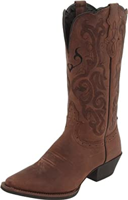 Amazon Com Justin Boots Women S Stampede Western Boot