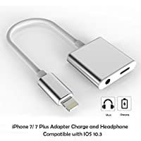 Lightning Adapter for iPhone 7 / 7 Plus, [upgrade] Charge and Headphone Splitter Adapter for Lightning