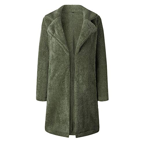 Long Chaud Blouson Femmes À Longues Manteau Automne Devant Hiver Ouverte Armée Manches Pour Femme Veste Blouse Verte Vêtements Zzzz 4wYaqgn