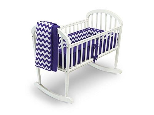 Baby Doll Chevron Cradle Bedding Set, Plum by BabyDoll Bedding