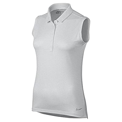 New Womens Nike Golf Sleeveless Polo Medium M White 831277