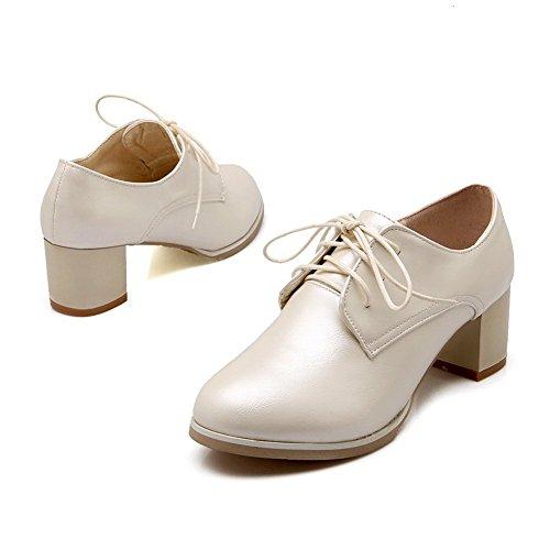 Balamasa Meisjes Dikke Hak Geïmiteerd Lederen Pumps-schoenen Beige