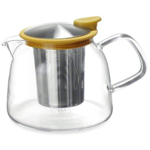 Forlife Bell Glass Teapot with Basket Infuser, 24-Ounce/730ml, Mandarin ()