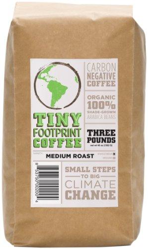 Tiny Footprint Coffee Organic Medium Roast Whole Bean Coffee, 3-Pound Bag
