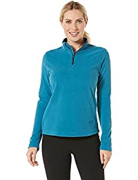 Sport Women's Microfleece Athletic Long Sleeves Shirt, Blue Turquoise, Small