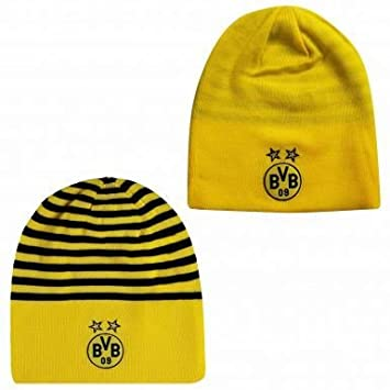 c5a0d896a90 Reversible BVB Borussia Dortmund Crest Beanie Hat by Puma  Amazon.co.uk   Sports   Outdoors