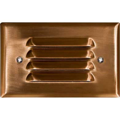 - Dabmar Lighting LV-LED617-CP 2.5W & 12V JC-LED Recessed Louvered Down Brick44; Step & Wall Light - Copper Cover
