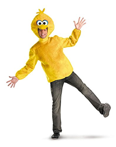 Disguise Unisex Adult Male Big Bird, Yellow, X-Large