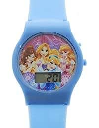 Disney Princess Girls LCD Digital Style Wrist Watch Adjustable Strap - Blue