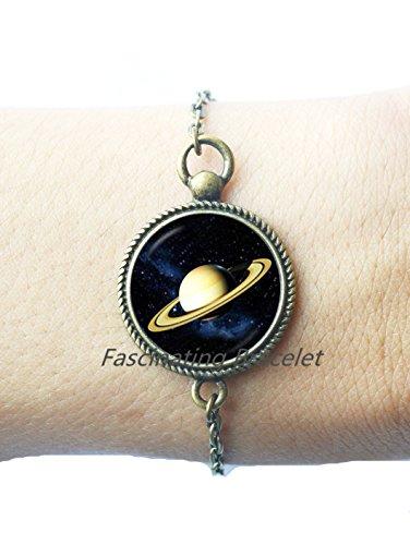 Saturn Bracelet astrology jewelry Chronos Bracelet God of Time Jewelry Planet of Karma Bracelet gift for Capricorn Bracelet Planet jewelry,AQ200
