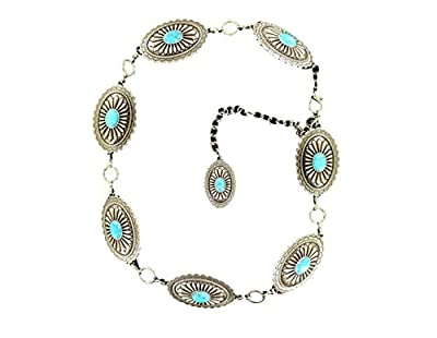 Ariat Accessories Women's Oval Concho Chain Dress Belt