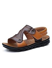 Nikub Leather Beach Anti-Skid Little Big Kids Boys Summer Sandals