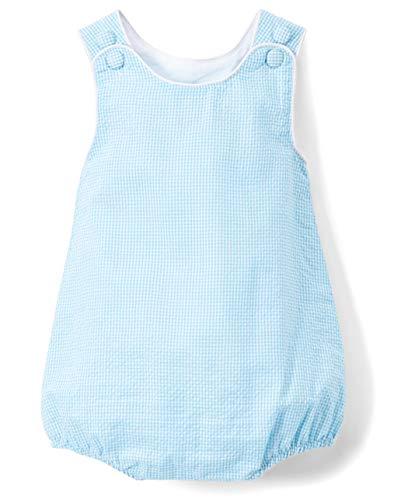 Lil Cactus Turquoise Seersucker Baby Romper Jumpsuit ()