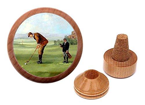 Golfer Wine Caddie - Unique Golfing gift present Bottle Stopper and Cork Holder