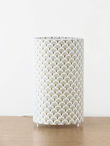 lámpara cilíndrica Art Deco gris - redondo - idea de regalo ...