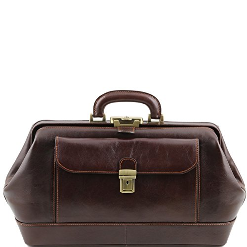 Tuscany Leather - Bernini - Elegante bolso de doctor en piel Marrón - TL141298/1 Marrón Oscuro