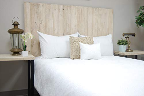 - Antique White Headboard Weathered California King Size, Hanger Style, Handcrafted. Mounts on Wall. Easy Installation
