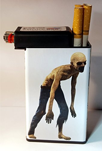 Price comparison product image Walking Dead Zombie Fear Cigarette Case built on Lighter Holder box Kings 100's ryo