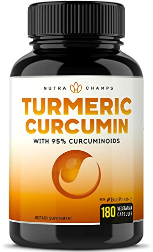 Turmeric Curcumin with BioPerine 1500mg - 180 Capsules with 95% Curcuminoids Excess Strength Supplement w Black Pepper Extract for Pain Relief, Joint Support, Inflammation - Highest Potency