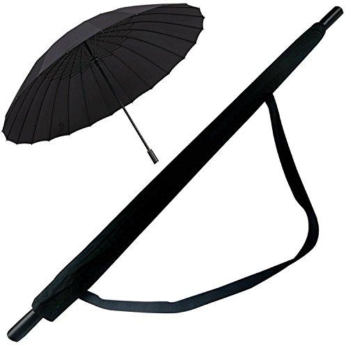 Golf Umbrella - 24 Ribs Sturdy Windproof Umbrella, Durability Tested 10,000 Times, High Grade and Easy Carrying for Travel - Rain & Sun Umbrella …