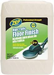 ZEP High Traffic Floor Polish gives you a professional grade floor finish for vinyl and other hard floor surfaces. Its 20% solid formula allows for a durable, high-gloss shine even as it prevents scuff marks. ZEP High Traffic Floor Polish is ...