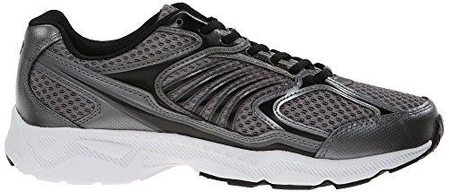 Fila Men's Inspell Running Shoe, Dark Silver/Black/White, 10 M US