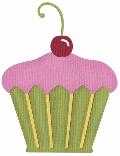 QUICKUTZ We R Memory Keepers 4-Inch by 4-Inch Die, Cupcake