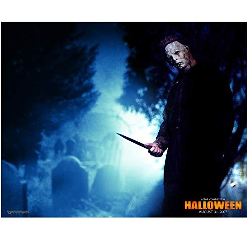 Halloween Michael Myers holding knife up in graveyard promo 8 x 10 Inch Photo -