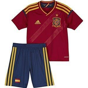 Adidas - X16697 - Equipación Fútbol Selección Española Niño - Color : Rojo y Azul - Talla : 176 Cm: Amazon.es: Deportes y aire libre