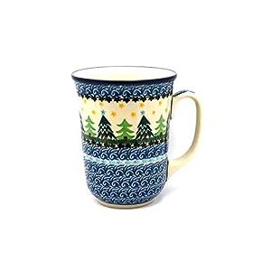 Polish Pottery Mug – 16 oz. Bistro – Christmas Trees
