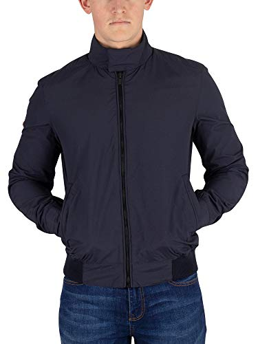 Superdry Men's Montauk Harrington Jacket, Blue, ()